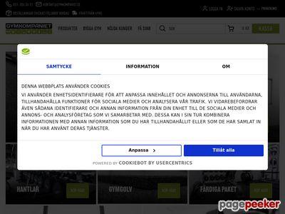 Skärmdump av gymkompaniet.se