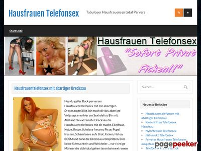 Détails : Hausfrauen Telefonsex - Tabuloser Hausfrauensex total Pervers