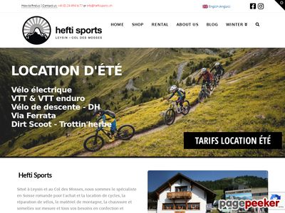 >Hefti Sports (Leysin et Col des Mosses) - A visiter!