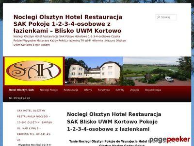 Hotel Olsztyn Noclegi Restauracja SAK pokoje
