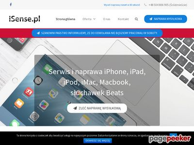 Profesjonalny serwis iPhone, iPod, iPad tylko w iSense.pl