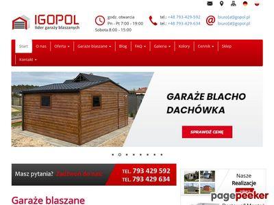 Wiaty blaszane - igopol.pl