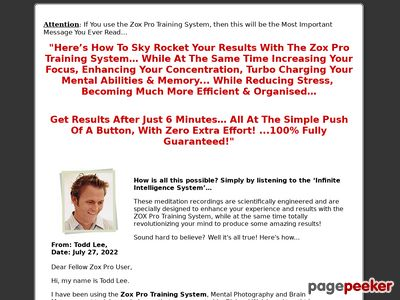 Infinite Intelligence System – Zox Pro – Zox Pro Training – Zoxpro Training System – Improve Memory – Strengthen Concentration – Boost IQ – Increase Focus