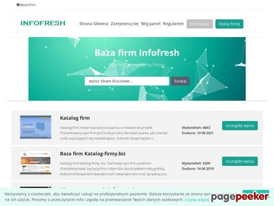 Katalog firm Infofresh