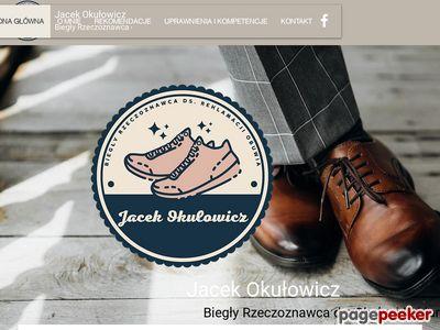 Rzeczoznawca obuwia Jacek Okułowicz