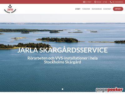 Skärmdump av jarlaskargardsservice.se