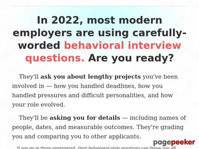 + Job Interview Answers to Behavioral Interview Questions!
