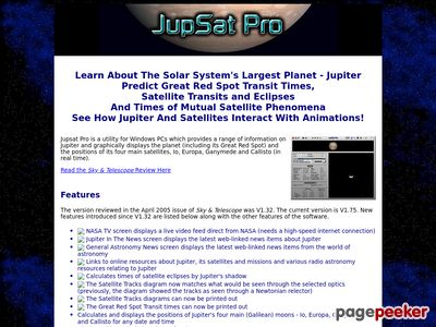 Jupsat Pro – Jupiter Observer's Software Toolkit