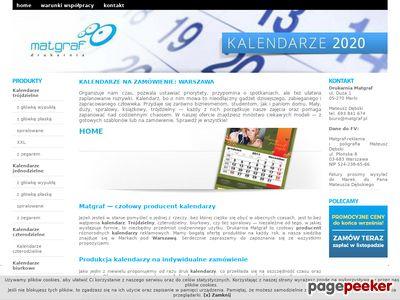 Kalendarze Matgraf – tanie kalendarze 2014 reklamowe