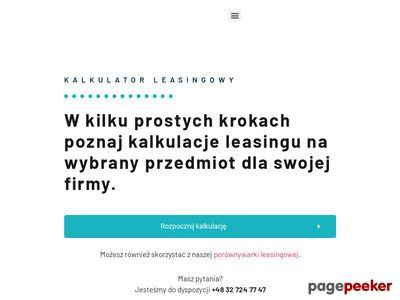 Kalkulator leasingowy - kalkulatorleasingowy.pl