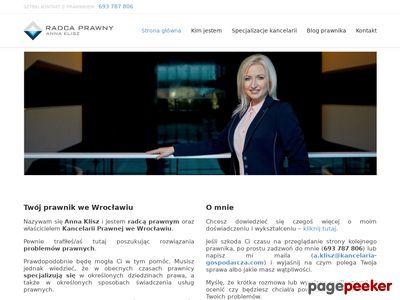 Kancelaria Prawna we Wrocławiu - Anna Klisz