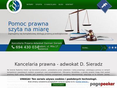 Kancelaria prawna Damian Sieradz