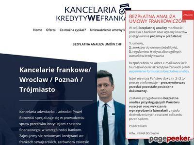 Kancelaria prawna franki Wrocław
