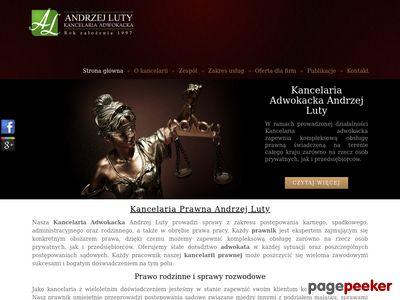 Prawnik w Krakowie - Andrzej Luty
