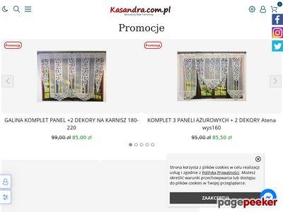 Sklep internetowy Kasandra firanki