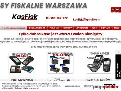 Kasy fiskalne online Warszawa Kasfisk