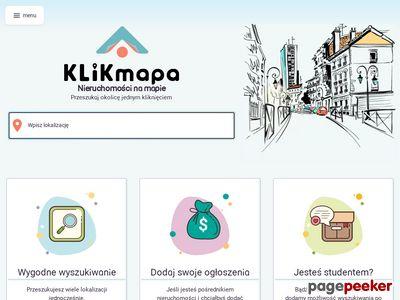KLIKmapa - wyszukiwarka nieruchomości za darmo