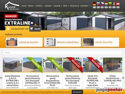 Producent garaży blaszanych - Konstal