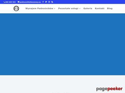 Podnośnik koszowy Wrocław wynajem