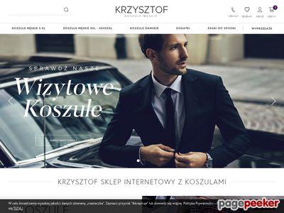 Koszule męskie i spinki ze sklepu Krzysztof