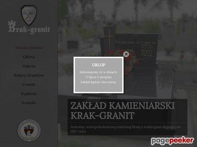 Krak-Granit - nagrobki Kraków