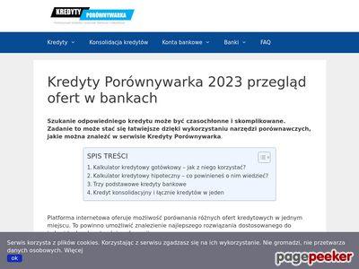 Więcej informacji o kredytach na kredytyporownywarka.pl