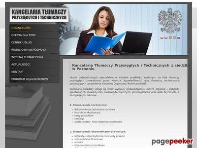 Kancelaria Tłumaczy Przysięgłych i Technicznych