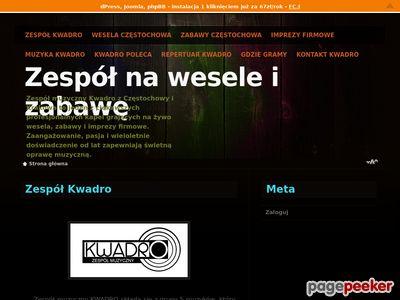 Więcej o stronie : Zespół na wesele Kwadro - Częstochowa