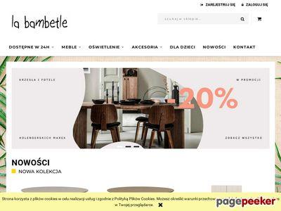 Designerskie meble i akcesoria La Bambetle