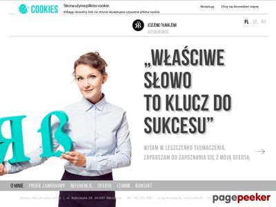 Leszczenko Tłumaczenia: j. rosyjski i j. niemiecki