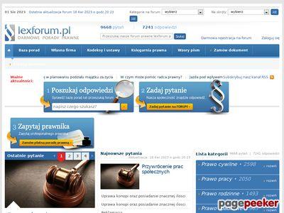 Forum Prawne - Bezplatna pomoc prawna - pytania prawne