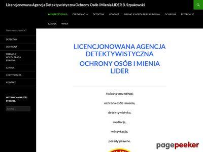LIDER BOHDAN SZPAKOWSKI detektyw warszawa