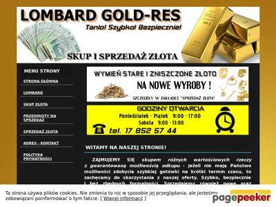 """LOMBARD FHU BOMIS - pożyczki pod zastaw, skup złota, sprzęt RTV..."""""""