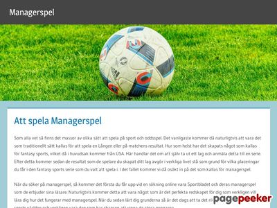Managerspel - ManagerDream - http://managerspel.se