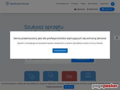 Portal medyczny, sprzęt rehabilitacyjny