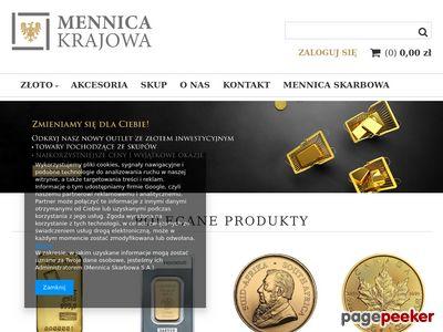 Sklep online ze złotem inwestycyjnym - mennicakrajowa.pl