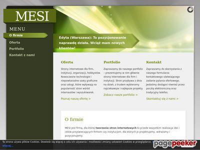 MESI - Strony internetowe