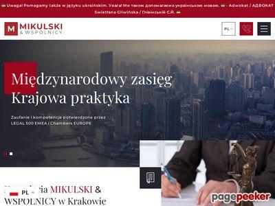 Kontrakt menadżerski Kraków - mikulski.krakow.pl