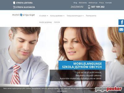 Angielski mobilny - mobilelanguage.pl