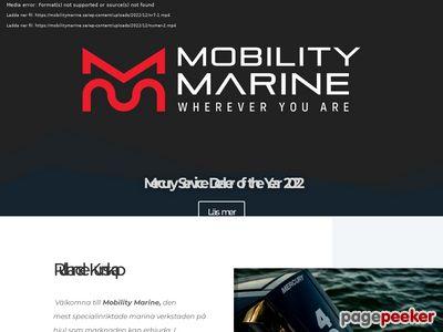Skärmdump av mobilitymarine.se