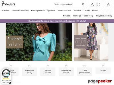 Modbis.pl sklep z pięknymi sukienkami