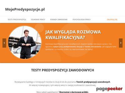 MojePredyspozycje.pl - zainteresowania zawodowe