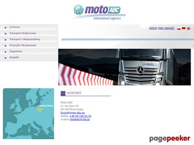 Usługi transportowe - Gdynia - Moto-ABC