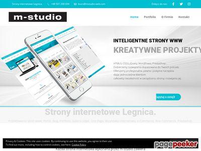 M-studio strony internetowe Legnica