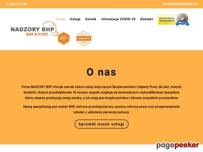 Nadzorybhp.pl - usługi BHP