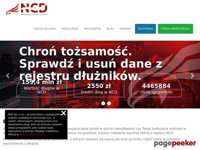 NarodoweCentrumDlugow.pl - przeterminowany dług