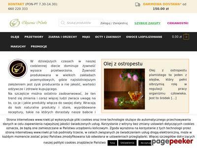 Olej lniany - niwki.pl
