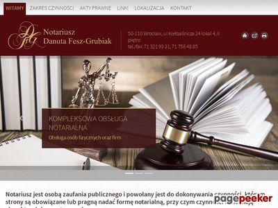 Notariusz Wrocław Danuta Fesz-Grubiak