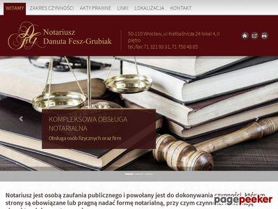 DANUTA FESZ-GRUBIAK NOTARIUSZ notariusz wrocław