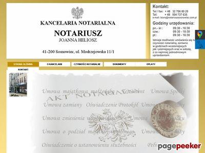 JOANNA HELIOSZ Kancelarie notarialne Sosnowiec